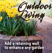 Add a retaining wall to enhance any garden.